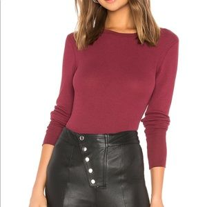 Bobi Thermal Long Sleeve Crew Neck in Bordeaux
